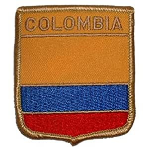 6,35 cm x 7,62 cm FindingKing Colombia escudo remiendo