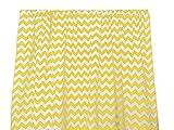 Zen Creative Designs Premium Cotton Chevron Curtain Panel / Home Window Decor / Window Treatments / Chevron / Zig Zag / Waves (58 Inch x 72 Inch, Yellow) For Sale