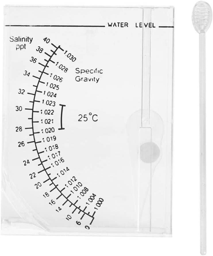 Aquarium Salinity Tester Square Seawater Salt Meter Fish Tank Salinity Measuring Device for Fish Tank Pond Saltwater Freshwater