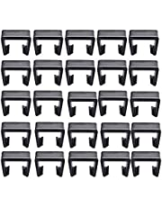 """WOPODI 15 Pieces 6 cm / 2.36"""" Outdoor Patio Rattan Furniture Clips Wicker Sofa Chair Fasteners Clip Alignment Sectional Connect or Module Couch Connector Clamps Garden Furniture Fastener (Large)"""