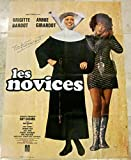 cut 100 LES NOVICES - 1970 FRENCH 1 PANEL - SIGNED BY BRIGITTE BARDOT RARE