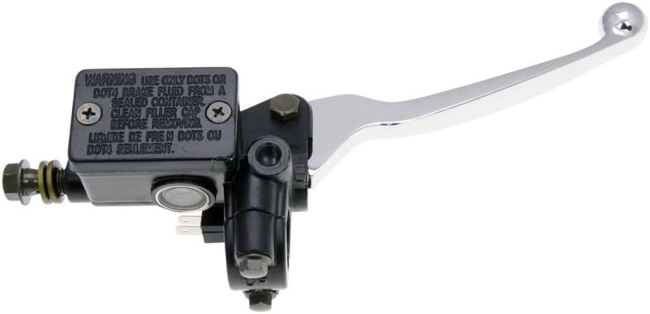 Retro Star Bremspumpe//Bremszylinder mit Handbremshebel vorn M8 Spiegel f/ür BENZHOU YY50QT-15