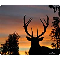 Deer Sunset Silhouette Thick Mouse Pad