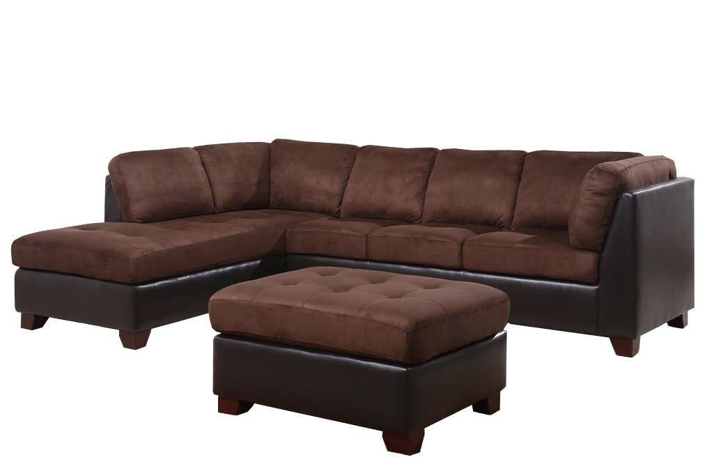 excellent leather sofa brown in sectional couches room living