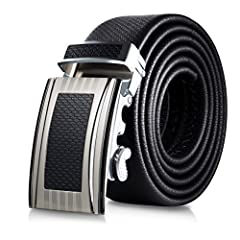 AMAZING QUALITIES Experience fit, quality and functionality. This leather belt buckle has everything to offer for the gentleman that appreciates value and style. Functions as a ratchet belt buckle with no holes introducing adjustability as ne...