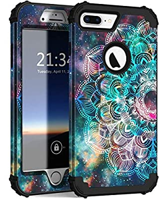 iPhone 8 Plus Case, iPhone 7 Plus Case, Hocase Heavy Duty Shockproof Protection Hard Plastic+Silicone Rubber Hybrid Protective Case for iPhone 7 Plus/iPhone 8 Plus
