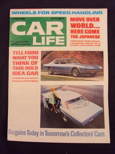 1968 68 August CAR LIFE Magazine, Volume 15 Number # 7 (Road Test: Made In Japan: Toyota 2000 GT, Toyota Corona, Toyota Corolla, Toyota Land Cruiser, Toyota Crown, Datsun 2000 Sports, Datsun 510 Sedan, Datsun 510 Station Wagon, Honda and Fuji)