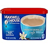 Maxwell House International Café Flavored Instant Coffee, French Vanilla, 8.4 Ounce Canister (Pack of 4)