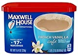 Maxwell House International Cafe Flavored Instant Coffee, French Vanilla, 8.4 Ounce Canister (Pack of 4)