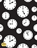 WriteDrawDesign Blank/Wide Ruled 8. 5 X 11 Notebook, Clocks, WriteDrawDesign, 1496164962