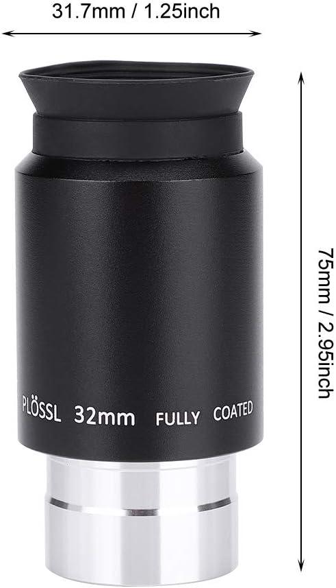 Diyeeni Plossl Telescope Eyepiece 1.25 PL 32mm Plossl Eyepiece with Filter Thread and Lens Caps.