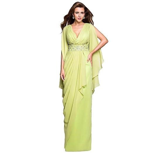 0b7491f4494 Image Unavailable. Image not available for. Color  LightInTheBox TS Women s Sheath  Column V Neck Floor Length Chiffon Evening Dress ...