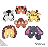 Cardboard Color Your Own Zoo Animal Masks