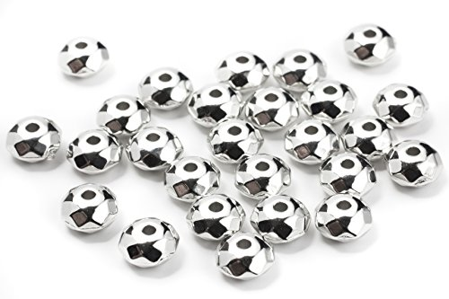 - Cousin Kumihimo Rondelle Acrylic Beads 3mmX5mm 300/Pkg, Silver