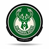 Milwaukee Bucks Official NBA 8.5 inch x 6.4 inch Light Up Power Car Decal by Rico Industries