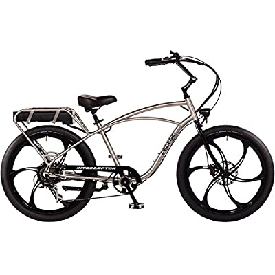 "Pedego Interceptor 26"" Classic Brushed Aluminum with Mag Wheels 48V 15Ah"