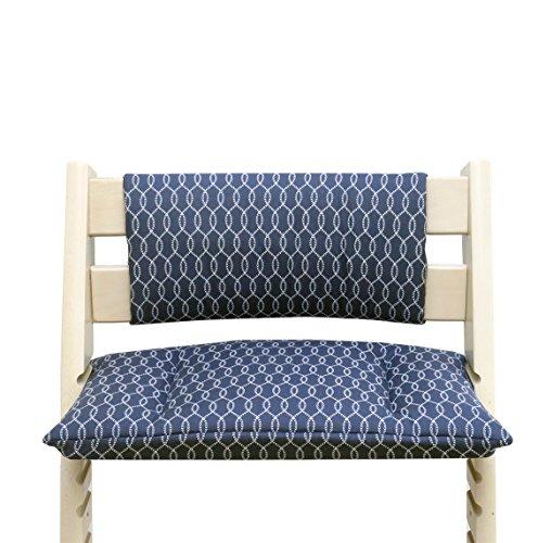 Blausberg Baby - Cushion Set Junior for Tripp Trapp High Chair of Stokke - Blue Sailer