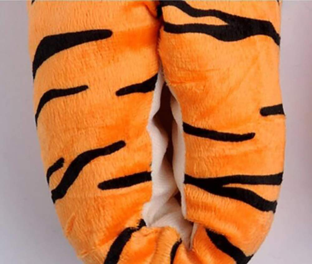 34~39 Largesize Oudan Cosplay Paw Plush Slippers Tiger Pattern Feet Claw Slippers Home Shoes 40~45 Color : As Shown, Size : Mediumcode