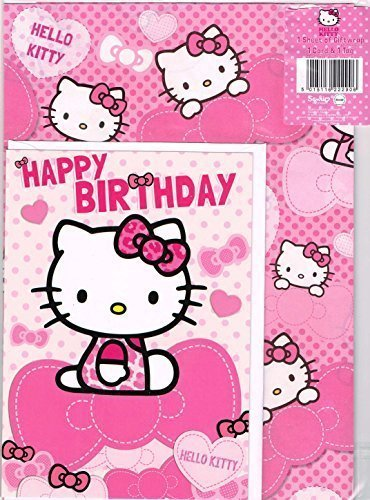 Amazon Hello Kitty Wrapping Paper With Birthday Card And Gift
