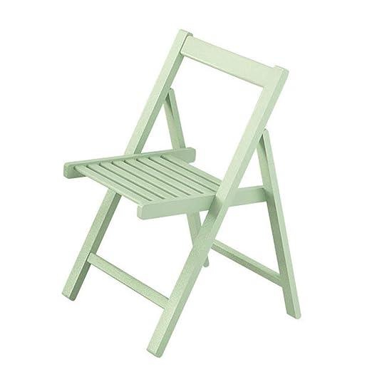 sillas Plegables de Madera Maciza Silla de Comedor sillas ...