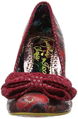 Rosso Ban Red Scarpe Floral Choice Tacco Irregular con da Joe Donna wA48q