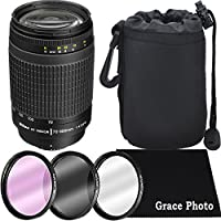 Nikon AF Zoom-NIKKOR 70-300mm f/4-5.6G Lens Bundle for Nikon DSLR Cameras (White Box)