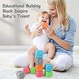 TUMAMA Baby Blocks,Soft Baby Building Blocks for