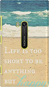 DailyObjects Life Is Too Short Case For Nokia Lumia 920