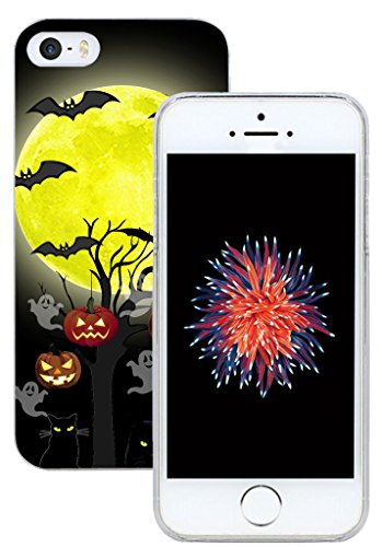 Halloween Iphone 5 Covers (Case for Phone SE & Cover for 5S & MUQR Replacement Skin Rubber Gel Silicone Slim Drop Proof Protection Protector Compatible with iPhone 5 & 5S & SE Halloween Pumpkin)