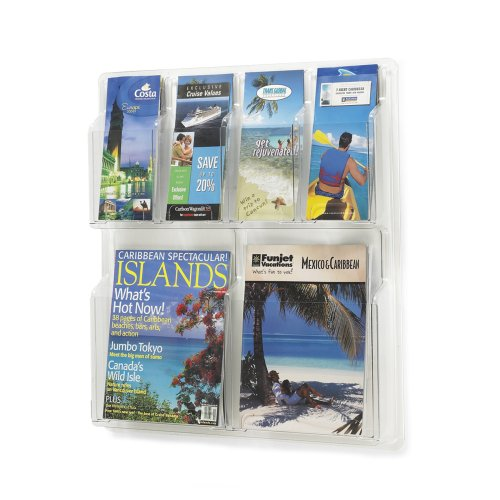 Safco Products Commercial Shelf (Safco Products 5612CL Reveal Literature Display, 2 Magazine and 4 Pamphlet, Clear)