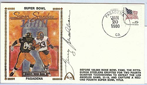 Terry Bradshaw Autographed Signed Autograph First Day Cover Cachet 1980 Superbowl JSA Authentic U82410