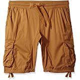 Southpole Men's Big and Tall Cargo Jogger Shorts in Solid and Camo Colors, Wheat, 5XB