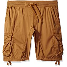 Southpole mens big-tall Big & Tall Cargo Jogger Shorts in Solid and Camo Colors