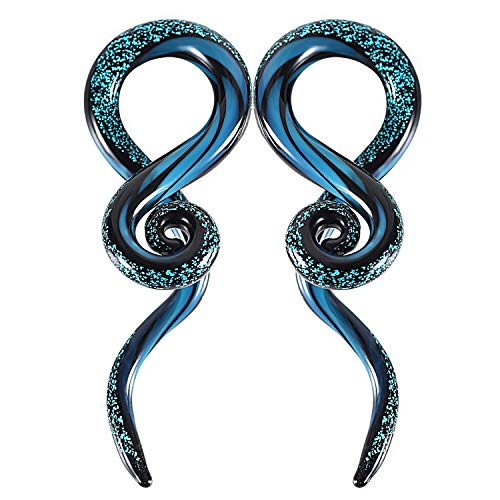 Body Candy 2Pc Unisex Ear Expanders Blue Acrylic Straight Taper Ear Stretching Kit Set of 2