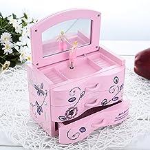 Sundlight Fashionable Cute Jewelry music box with Beautiful Girl Rotating