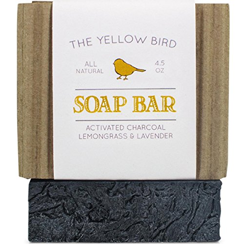 Activated Charcoal Soap Bar. All Natural Detoxifying Face & Body Cleanser. Certified Organic Ingredients. Paraben & Sulfate Free. For Acne, Eczema, Psoriasis, Rosacea, Dry Sensitive - 1 Soap All Lavender