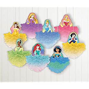 """Disney Princess"" Multicolor Deluxe Fluffy Party Decorations, 8 Ct."