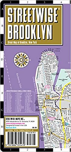 Park Slope Brooklyn Subway Map.Streetwise Brooklyn Map Laminated City Center Street Map Of