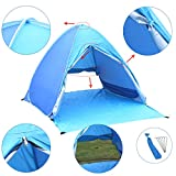 Kingstar Portable Pop Up Beach Tent,UV 2-3 Person Folding Sun Shelters Waterproof Automatic Instant Family Backpacking Hiking Camping Tent Outdoor Ultralight Canopy Cabana Tents with Carry Bag