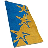 outdoorer XXL beach towel / Starfish beach towel, cotton, very soft, ideal as a bath towel or gym towel by Outdoorer