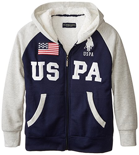 us-polo-assn-big-boys-sherpa-lined-thermal-hoodie-classic-navy-14-16