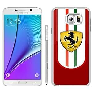 Unique Samsung Galaxy Note 5 Case ,Fashionable And Popular Designed Case With Ferrari logo 2 White Samsung Galaxy Note 5 Cover Case Good Quality Phone Case