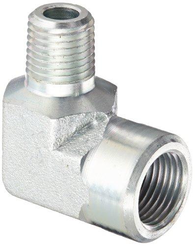 Eaton Aeroquip 2089-4-6S Steel Pipe Fitting, 90 Degree Elbow, 1/4
