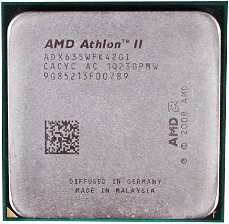 Amazon Com Amd Athlon Ii X4 635 2 9ghz 2mb Quad Core Cpu Processor Socket Am3 938 Pin 95w Computers Accessories