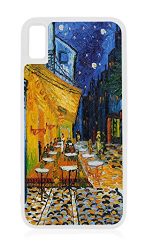(Van Gogh's Café Terrace at Night Painting Print Design White Rubber Case for iPhone XR - iPhone XR Phone Case - iPhone XR Accessories )