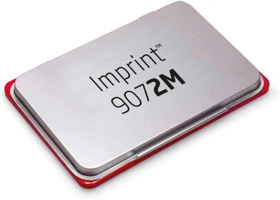 Trodat 9072M Encreur M/étal Rouge 11 x 7 cm
