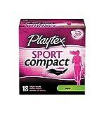 Playtex Sport Super Absorbency Compact Tampons, 18 Tampons (Pack of 2)