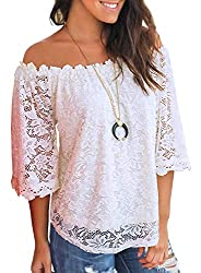 Off Shoulder Tops Casual Loose Blouse
