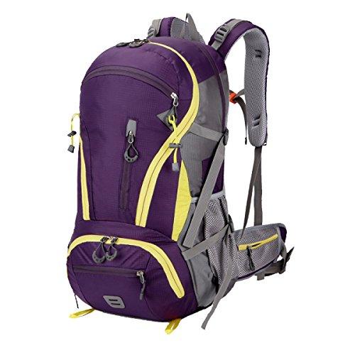 Yy.f Mochila De Senderismo Mochila 45L Trajes Impermeables Deportes Al Aire Libre Mochila De Día Sombrillas Senderismo Pesca Bicicleta De Paseo . Multicolor Purple