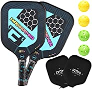 A11N HyperFeather Pickleball Paddles Set of 2, USAPA Approved   8OZ, Graphite Face & Polymer Core, Cushion